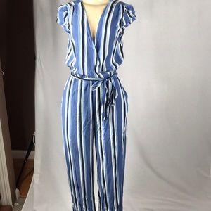 BeBop Striped Pantsuit NWT